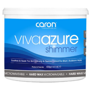 Caron Viva Azure Shimmer Microwaveable Hard Wax 400g