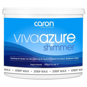 Caron Viva Azure Shimmer Microwaveable Strip Wax 400ml