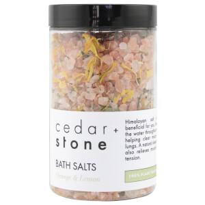 Cedar + Stone Grapefruit + Lemon Bath Salts 300g