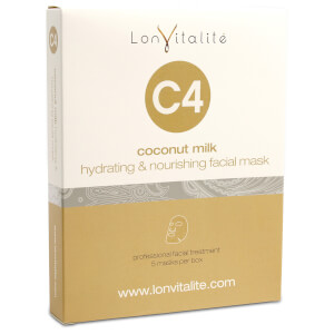 Lonvitalite S4 Coconut Milk Hydrating & Nourishing Face Mask (5 Pack)