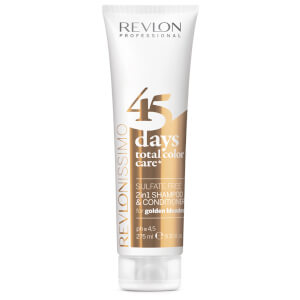 Revlon Professional 45 Days Total Color Care 2 in 1 Shampoo And Conditioner - Golden Blondes 275ml