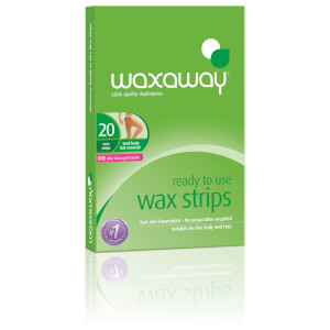Waxaway By Caron Ready To Use Wax Strips Facial 20Pk