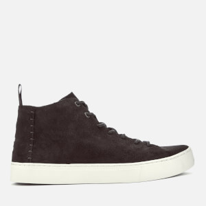 TOMS Men's Lenox Suede Mid Top Trainers - Chocolate Brown