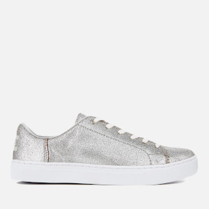 TOMS Women's Lenox Metallic Leather Cupsole Trainers - Silver