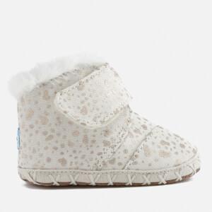 TOMS Babies' Cuna Layette Snow Spots Boots - Gold Foil