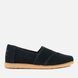 TOMS Women's Alpargata Suede Crepe Sole Slip On Pumps - Black