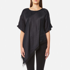 MM6 Maison Margiela Women's Cupro Satin Top - Black