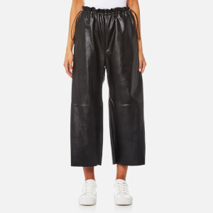 MM6 Maison Margiela Women's Faux Leather Culottes - Black