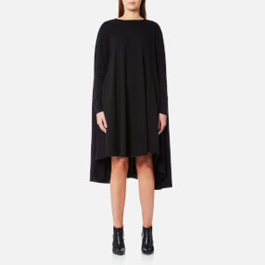 MM6 Maison Margiela Women's Vintage Wash Long Sleeve Oversized Dress - Black