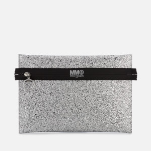 MM6 Maison Margiela Women's Glitter Clutch Bag - Silver