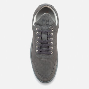 Filling Pieces Ghost Perforated Suede Low Top Trainers - Dark Grey: Image 3
