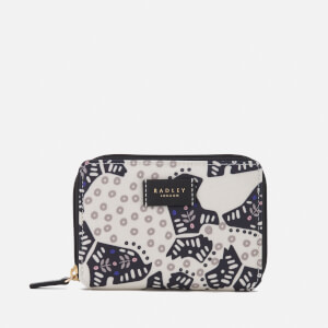 Radley Women's Folk Dog Medium Zip Around Purse - Chalk