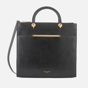Ted Baker Women's Maureen Bar Detail Leather Tote Bag - Black