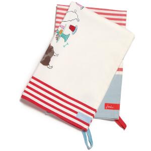 Joules Tea Towel Pack - Par-Tea Dogs