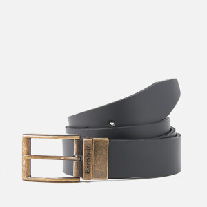 Barbour Men's Reversible Leather Belt Gift Box - Black