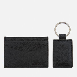 Barbour Men's Card Holder and Key Fob - Black
