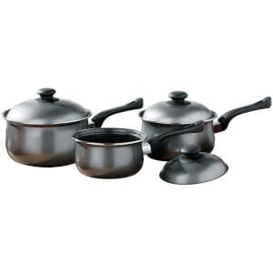 Premier Housewares 3 Piece Silver Belly Pan Set