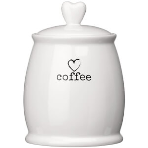 Premier Housewares Charm Coffee Canister - White Dolomite