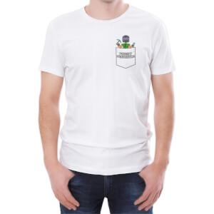 T-Shirt Homme Xisuma Pocket Protector -Blanc