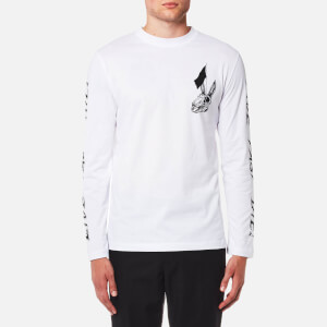 McQ Alexander McQueen Men's Long Sleeve Crew Neck T-Shirt - Optic White