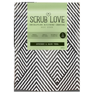 Scrub Love Active Charcoal Body Scrub - Avocado & Aloe Vera