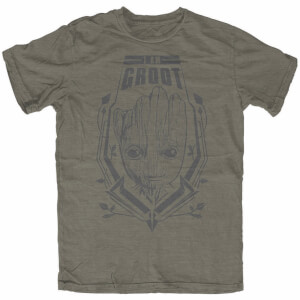 Marvel Men's Guardians of the Galaxy Vol.2 Groot T-Shirt - Khaki
