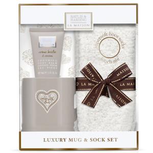 Baylis & Harding La Maison Creme Brulee and Cocoa Luxury Mug Set