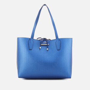 Guess Women's Bobbi Inside Out Tote Bag - Blue Cognac