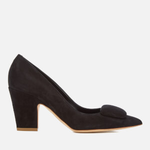 Rupert Sanderson Women's Pierrot Suede Heeled Court Shoes - Black