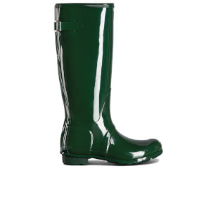 Hunter Women's Back Adjustable Gloss Wellies - Hunter Green