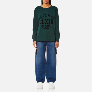 MM6 Maison Margiela Women's Sweatshirt with Tie Side Details - Pine