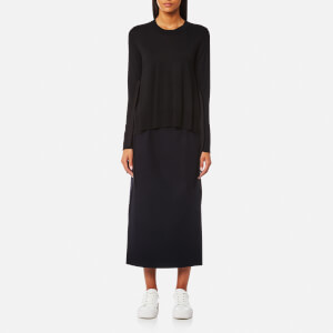 MM6 Maison Margiela Women's Fine Knitted Jumper with Tie Side Details - Black