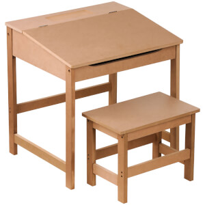 Premier Housewares Children's Desk and Stool - Natural