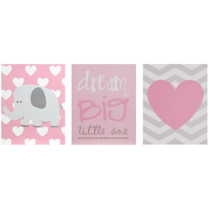 Premier Housewares Kids Dream Big Wall Plaques (Set of 3)