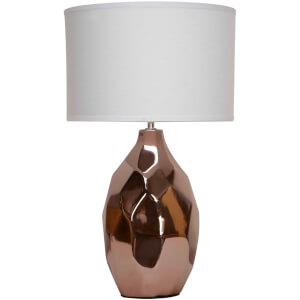 Fifty Five South West Table Lamp - Copper/Ivory