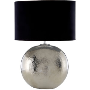 Fifty Five South Jarvis Table Lamp - Silver/Black