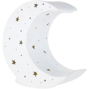 Premier Housewares Kids Moon Night Light - White Ceramic