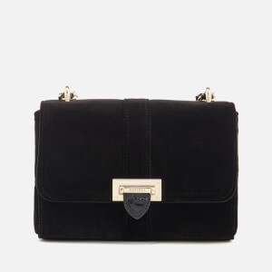 Aspinal of London Women's Velvet Lottie Bag - Black