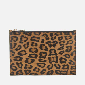Aspinal of London Women's Essential Large Pouch Bag - Leopard Print