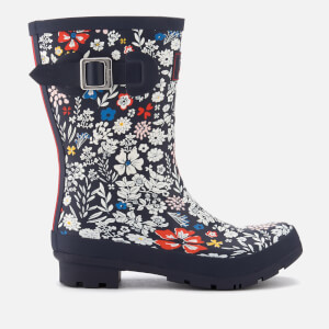 Joules Women's Molly Printed Short Wellies - French Navy Ria Ditsy