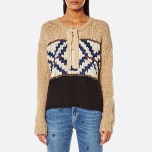 Maison Scotch Women's Jacquard Knitted Jumper - Combo A