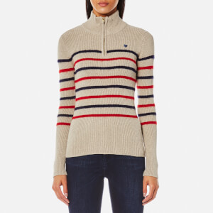 Maison Scotch Women's Fitted Pullover with Zip Detail - Combo A