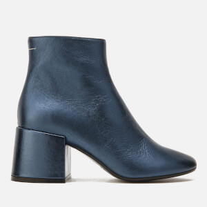 MM6 Maison Margiela Women's Heeled Ankle Boots - Blue
