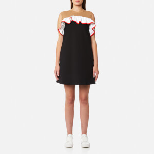 MSGM Women's Frill Collar Dress - Black/Red