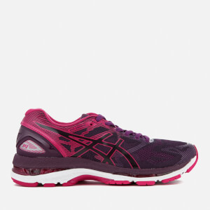 Asics Running Women's Gel Nimbus 19 Trainers - Black/Cosmo Pink/Winter Bloom