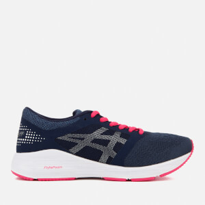 Asics Running Women's Roadhawk FF Trainers - Insignia Blue/Silver/Rouge Red