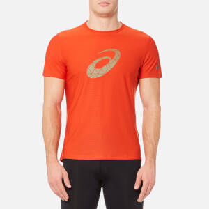 Asics Men's Graphic Short Sleeve Top - Red Clay
