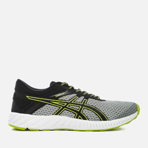 Asics Running Men's FuzeX Lyte 2 Trainers - Mid Grey/Black/Energy Green