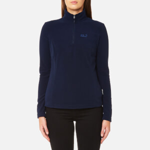 Jack Wolfskin Women's Gecko 1/4 Zip Fleece - Midnight Blue