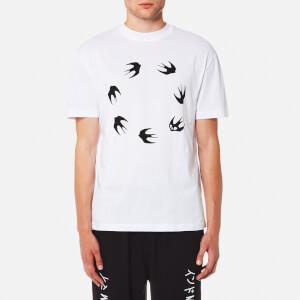McQ Alexander McQueen Men's Swallow Circle Print T-Shirt - Optic White